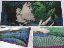 Beast Boy Raven Cross Stitch by coincollect408