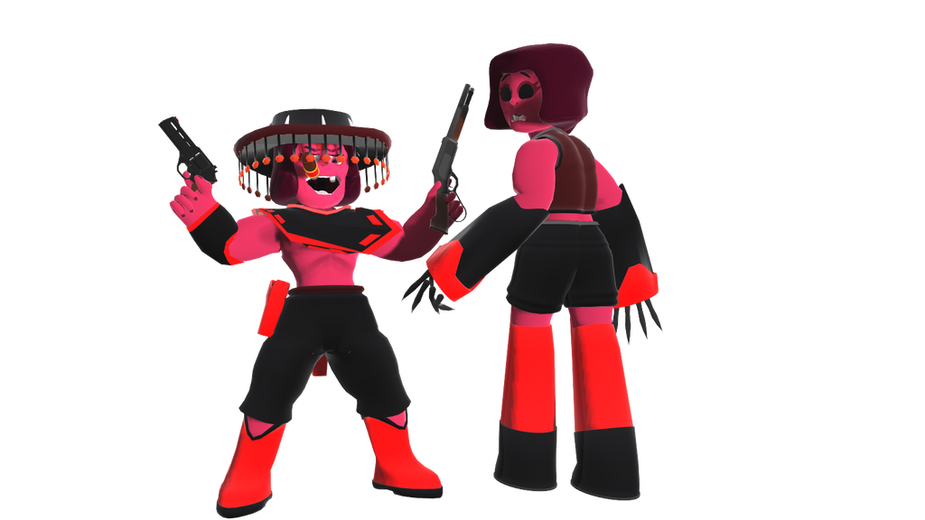 RG character model: Cowgirl and 8ball ruby by narath32x