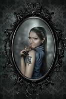 Reflexions (the 5th work) - The Bat Princess by Nisha2313