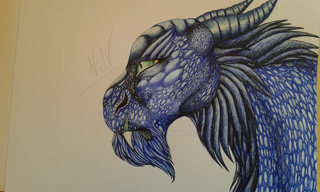 The blue dragon by NatNight9