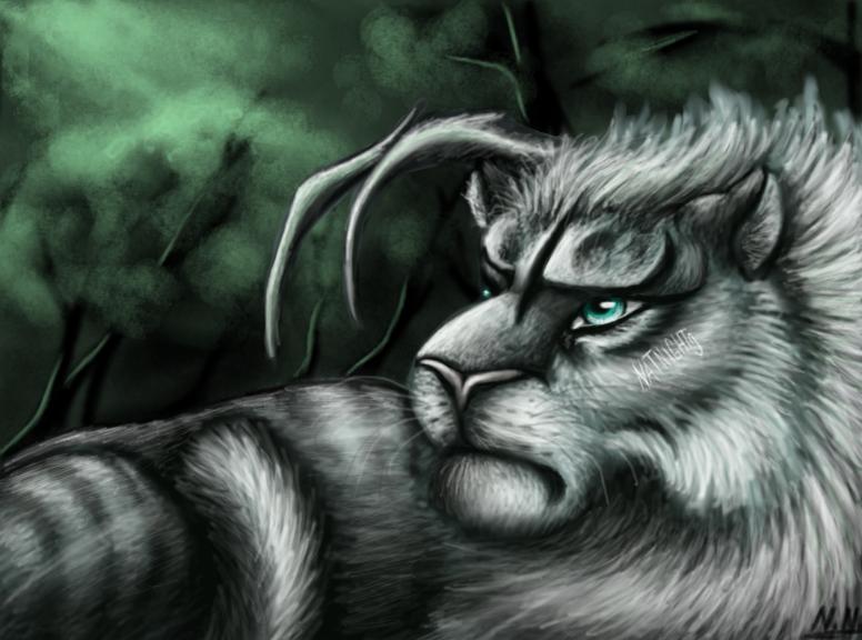 Dark forest creature by NatNight9