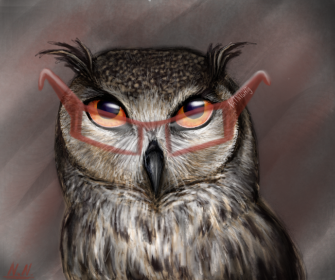 The wise owl by NatNight9