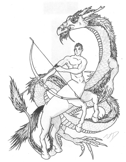 Sagittarius Archer and Dragon Tatt. by TheArcaine on DeviantArt