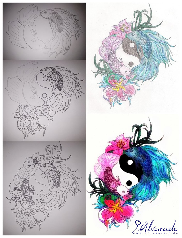 Betta Tattoo - Step by step by Salvas