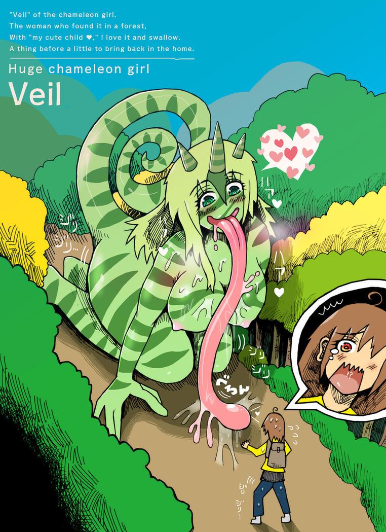 Huge chameleon girl - Veil by MINOMIf