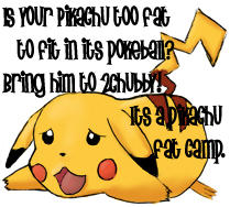 Pikachu Fat Camp by videodragon