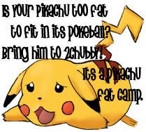 Pikachu Fat Camp by videodragon