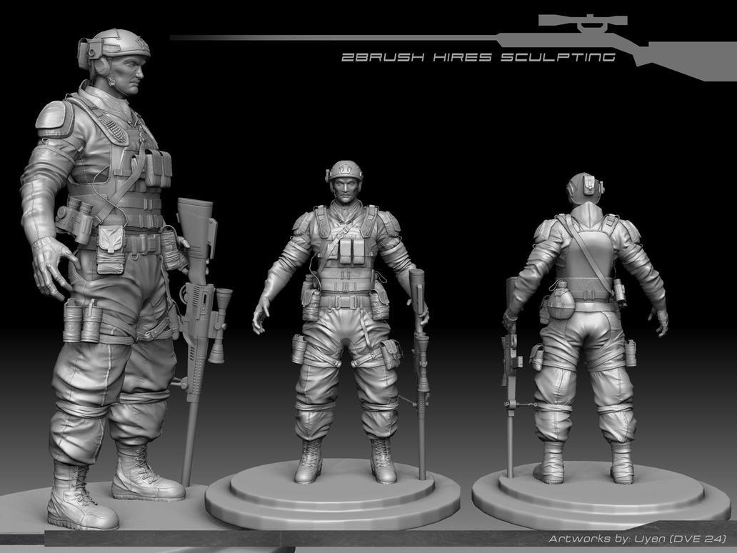 Soldier - Zbrush model by Nesta Duong by 3dsensemediaschool on ...