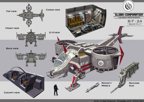Dropship - Concept design by Alvinas