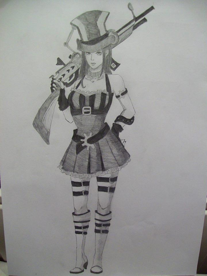Caitlyn Sketch by jerzyna-chan