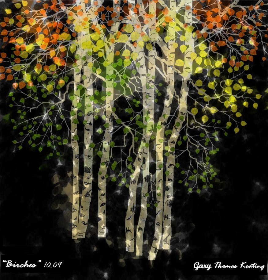 Birches Fall No 2. by garkeats
