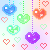 free use colored hearts avvie by revilgirl