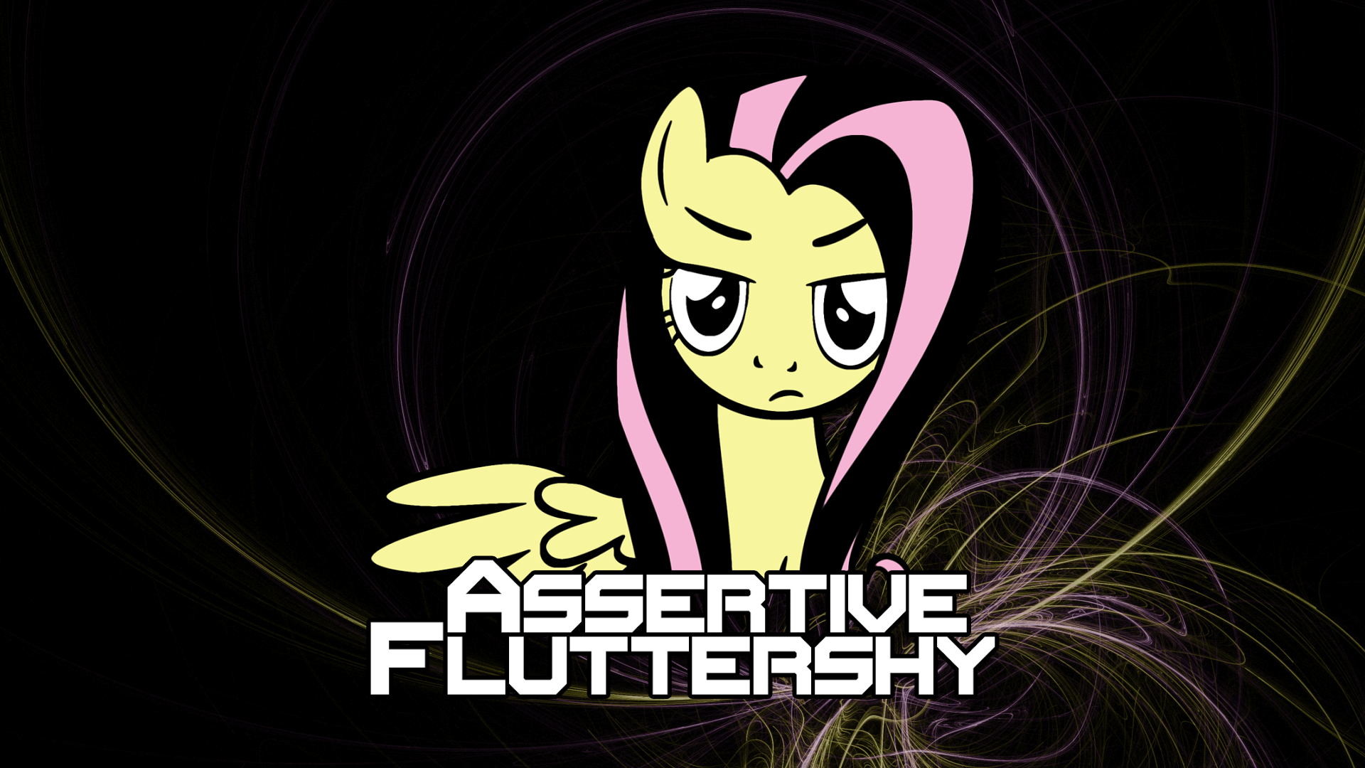 assertive fluttershy wallpaper 1080p by dubnation42 on
