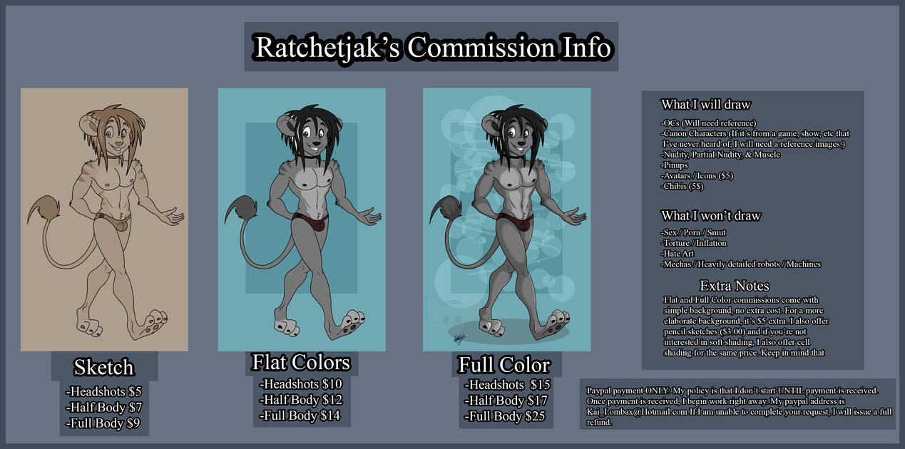 Commission Price ~Update [OUTDATED, NOT CURRENT]