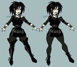 Dancer Character Concept - Goth