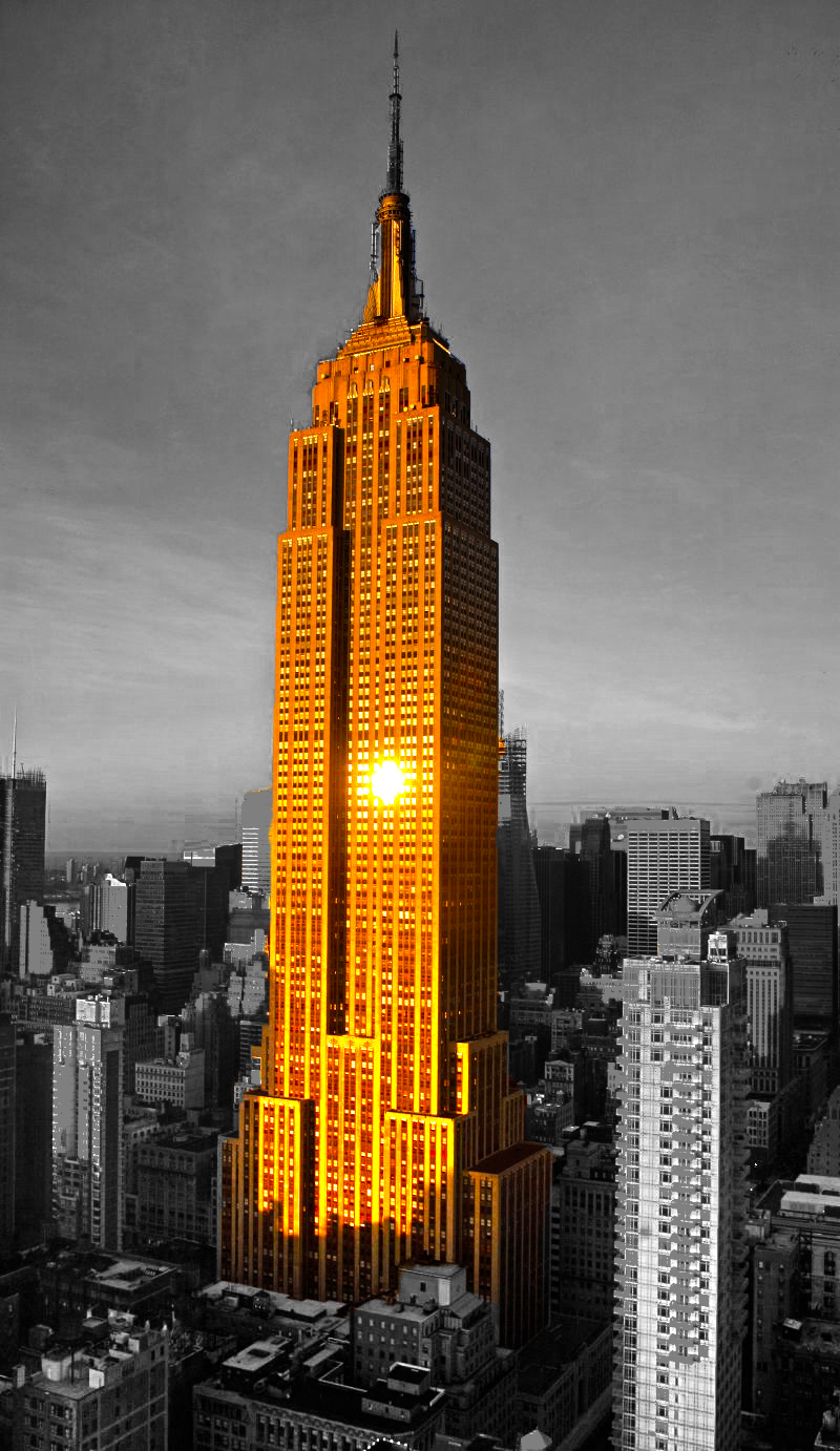 empire state building black and white. empire state building hdr photomanipulation by graffer66 black and white