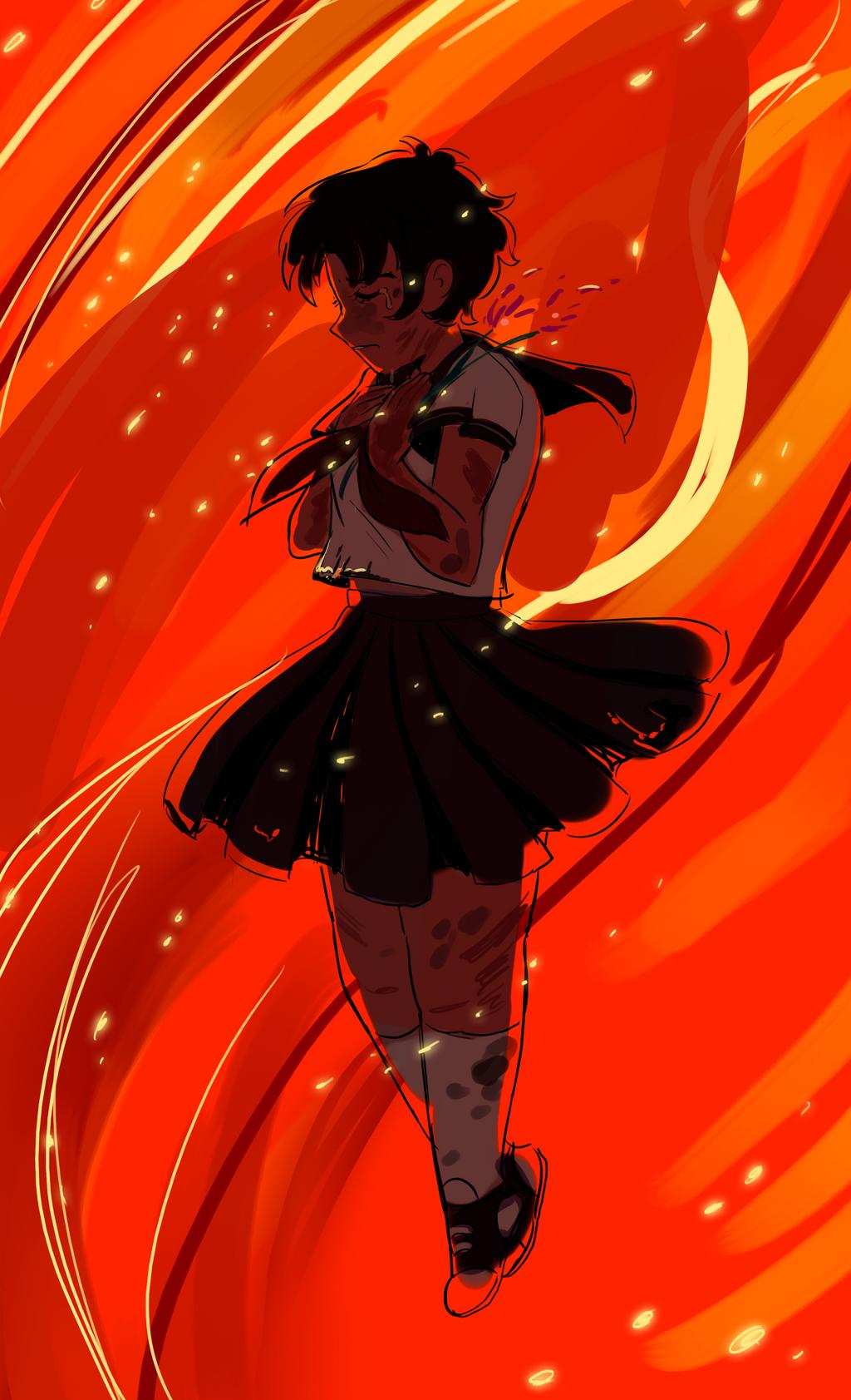 Burning by hokoki