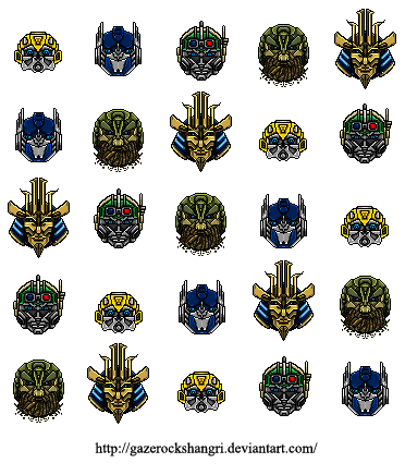 Transformers Age Of Extinction Pixel Art By