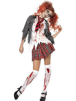 Women's High School Horror Zombie Schoolgirl Fancy by fancypandaltd
