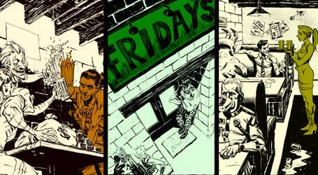 Friday's Bar for Supervillians - Story