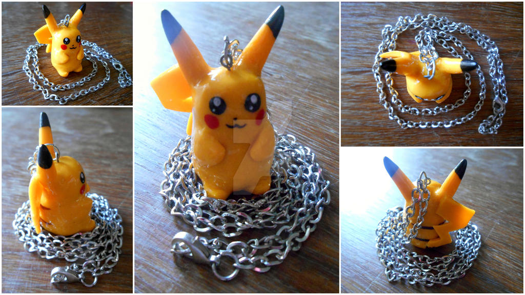 Pikachu Clay Pendant by RubyReminiscence