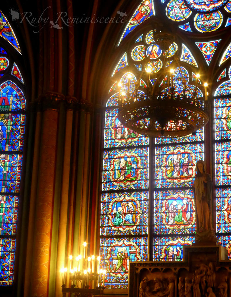 Inside Notre Dame Cathedral, Paris by RubyReminiscence