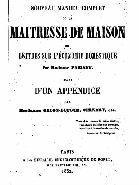 Manuel complet d auto production de 1852 preview 0