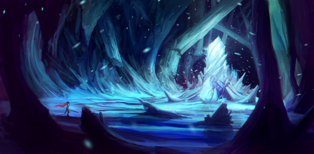 Concept art ice crystal by espj o on deviantart for Paintings of crystals
