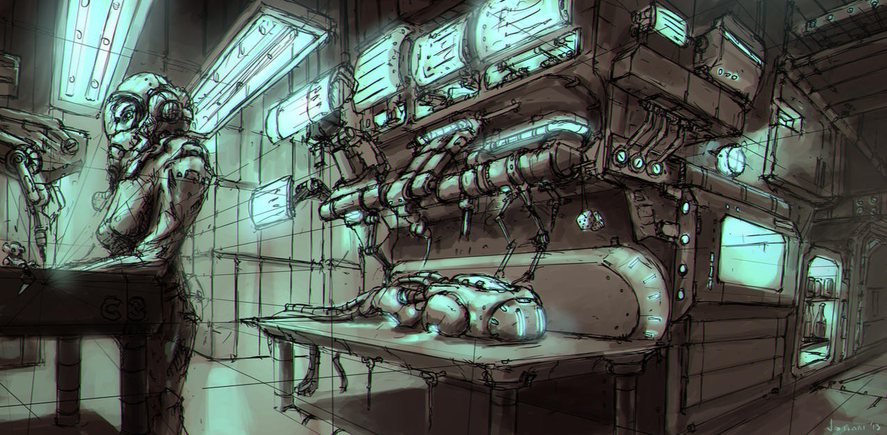 Concept Art: Laboratory by ESPj-o