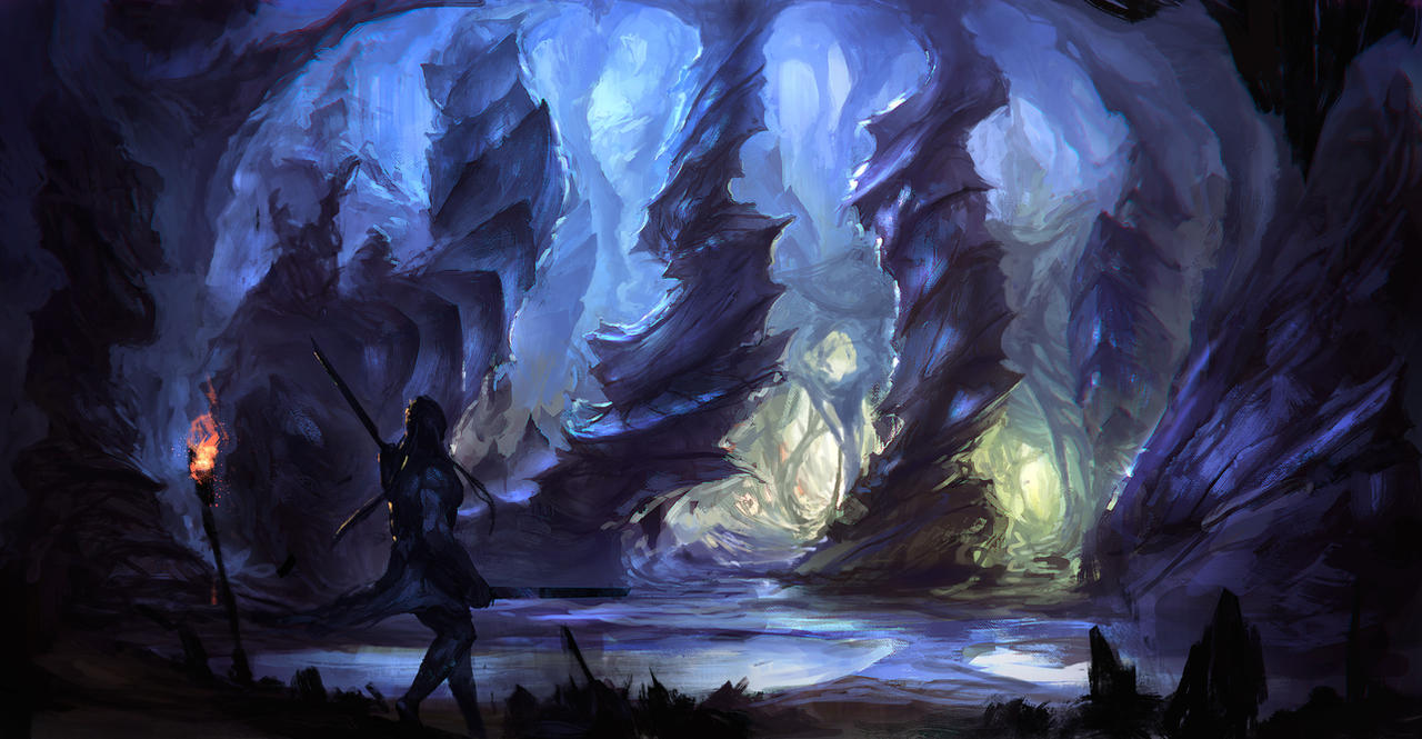 airbrushed artwork cavern concept - photo #25