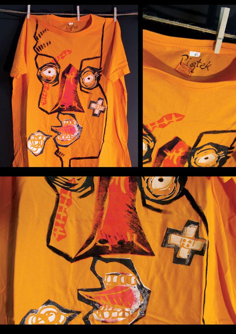 Custom Linocut T-Shirt 08 by xiw