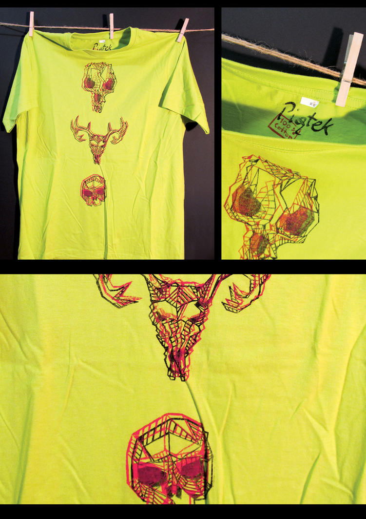 Custom Linocut T-Shirt 09 by xiw