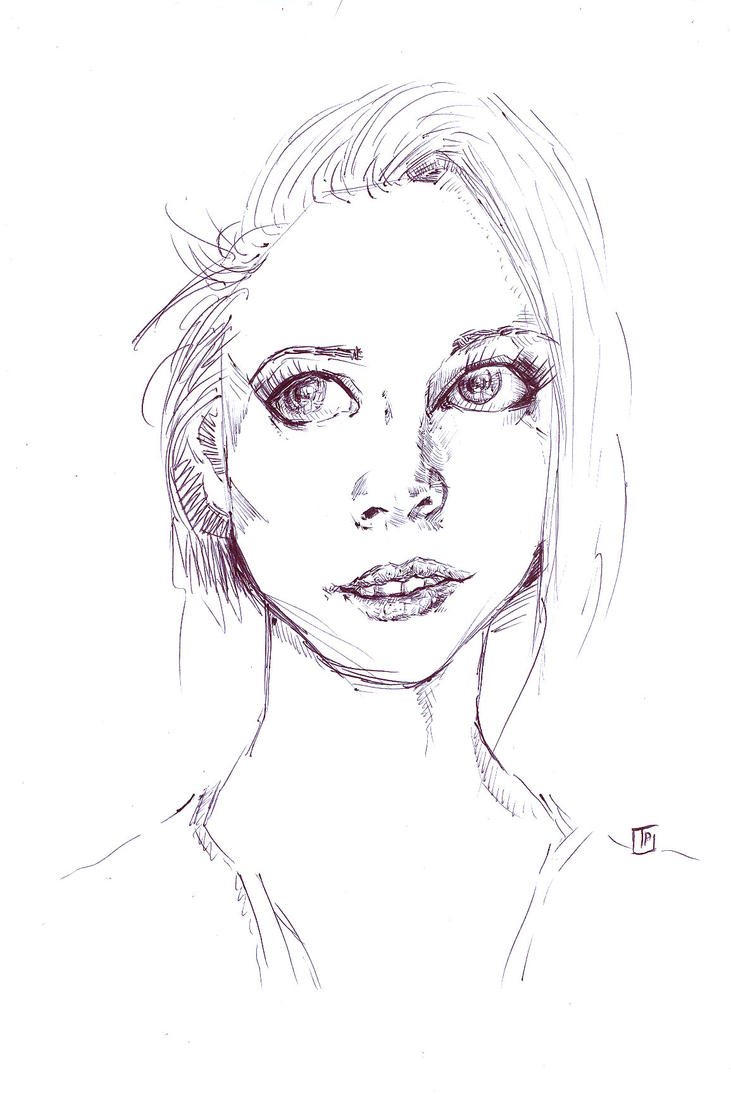 Sketch of a girl by xiw