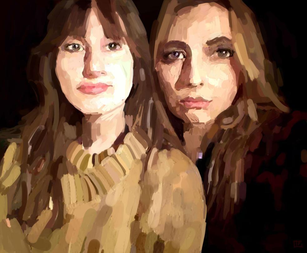 2 girls by xiw