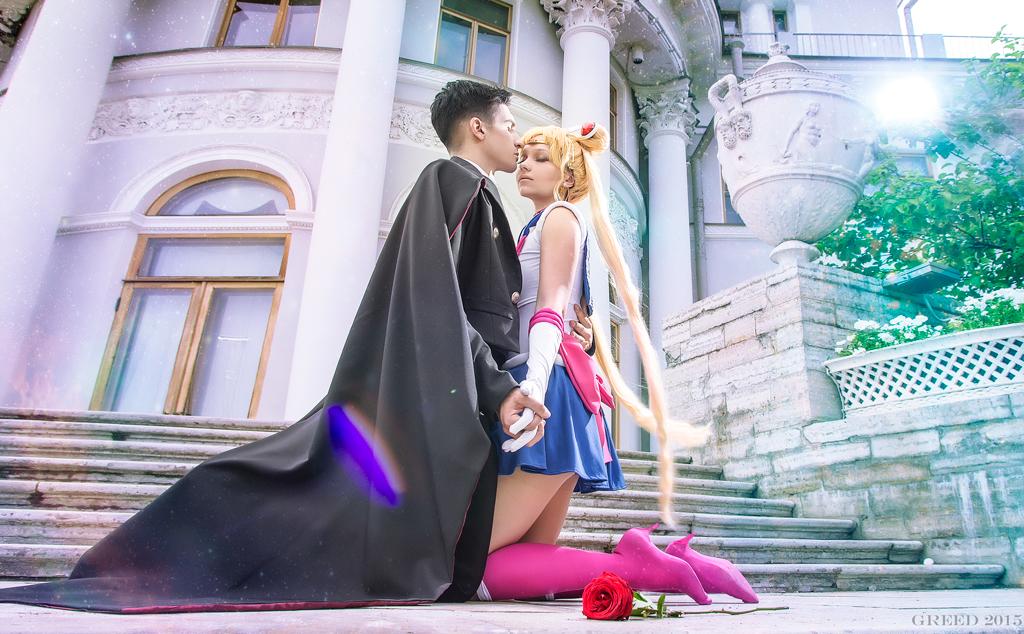 Pretty love Tuxedo Mask and Sailor Moon by Moonychka