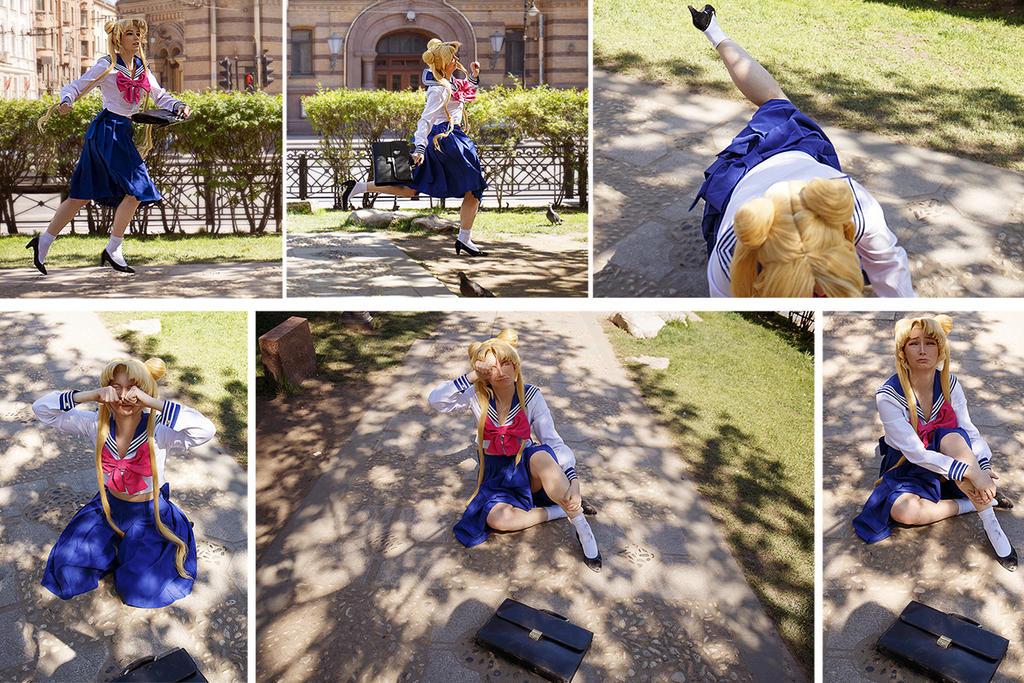 Usagi Tsukino so awkward girl in the world by Moonychka