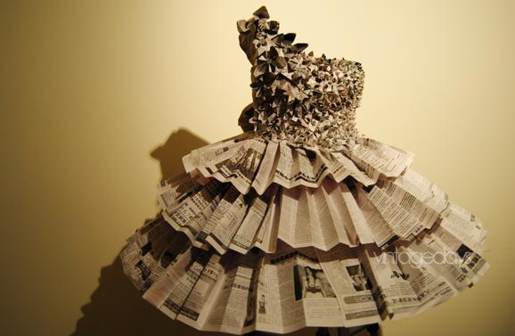 A Newspaper Dress by VintageDays