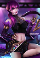 KDA Evelynn - Fan art by Millalol