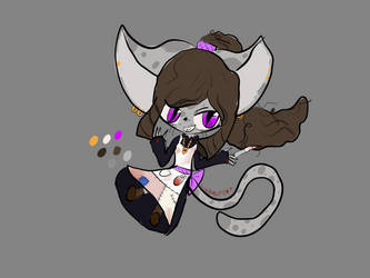 Doodle of ginger my mad scientist character oc by lunawolf567