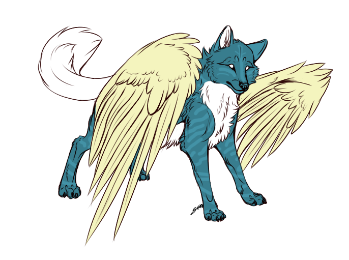 Winged Wolf Adopt-CLOSED by LittleToyDragon