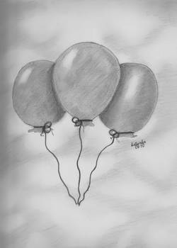 Balloons on a cloudy day