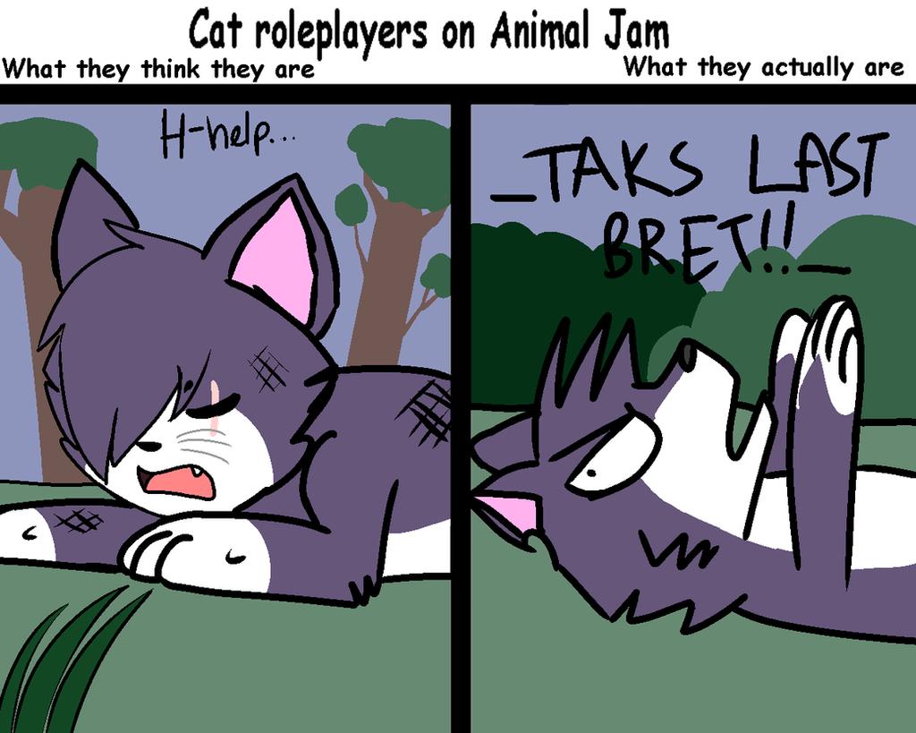 cat_roleplayers_on_animal_jam_by_nicoleminaj d8uox89 cat roleplayers on animal jam by nicoleminaj on deviantart,Animal Jam Meme