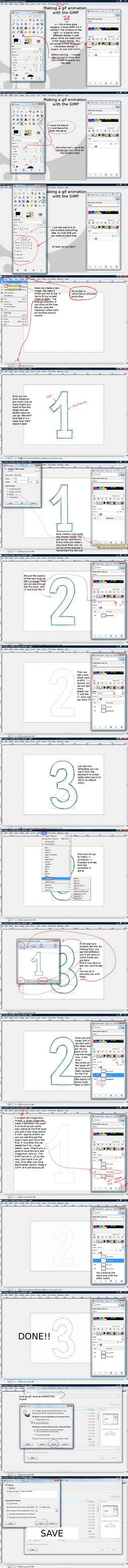 GIMP gif animation tutorial