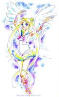 Angel through rainbow colors by starca