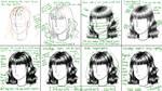 Manga hair tutorial - black and white