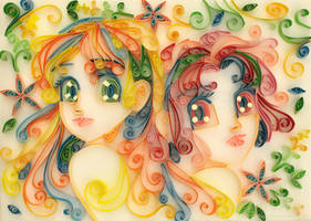 Stela and Sabrina - Quilling by starca