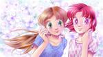 Stela and Sabrina violet