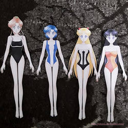 Finished Paper Dolls: Inner senshi by starca