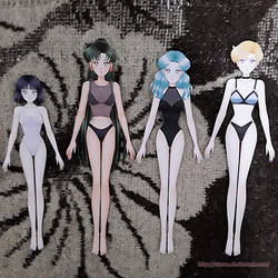 Finished Paper Dolls: Outer senshi by starca