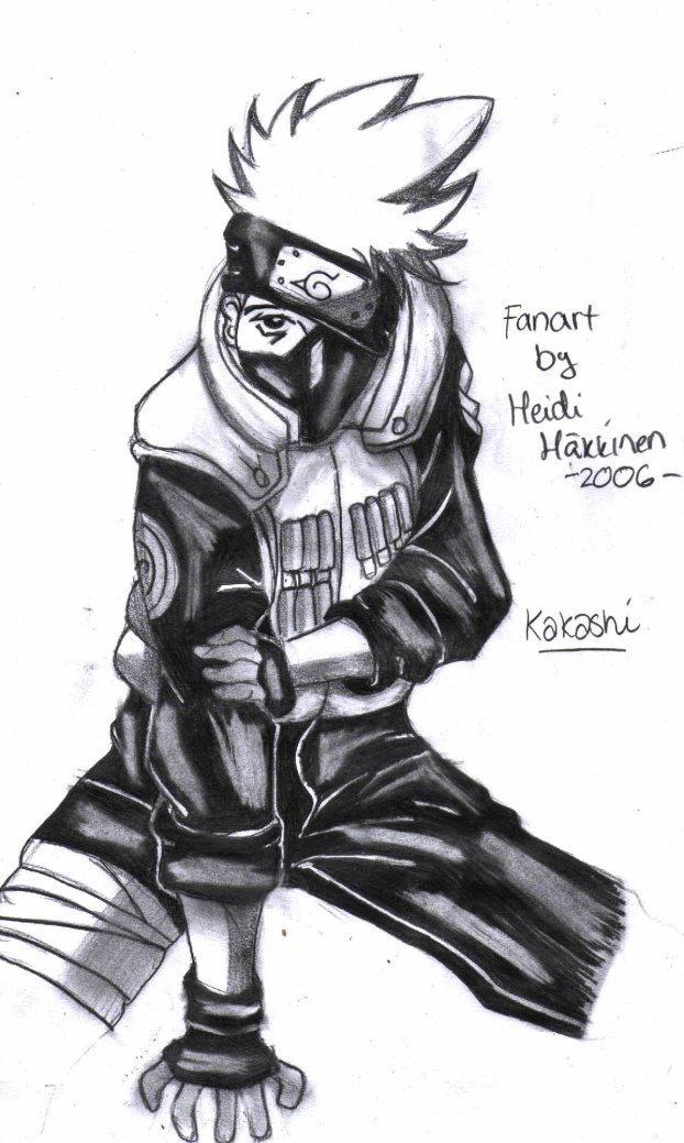 Kakashi Black And White By Anime White Wolf Kakashi Black And White